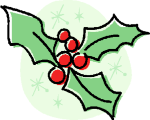 A picture of holly and berries
