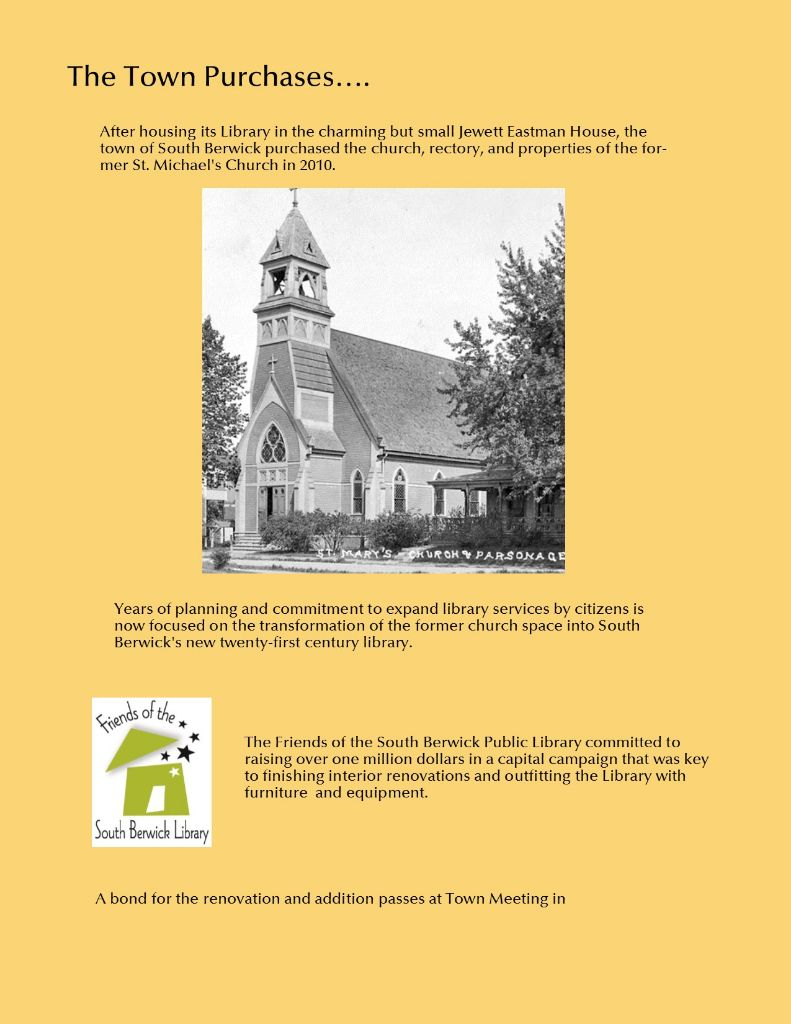 South Berwick Library history